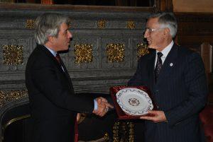 Rt Hon John Bercow MP, Speaker of the House of Commons with H.E. Jakup Krasniqi