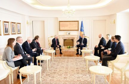 UK Delegation meet with the President of the republic of Kosovo, HE Hashim Thaci