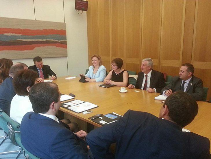 Armenian Delegation with Deputy Speaker Rt Hon Lindsay Hoyle MP
