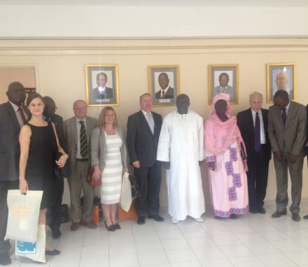 Delegation with Speaker Moustapha Niasse