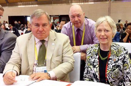 UK Governing Council members, (L-R) Robert Walter MP, BGIPU Chair Rt Hon Alistair Burt MP, and Baroness Hooper