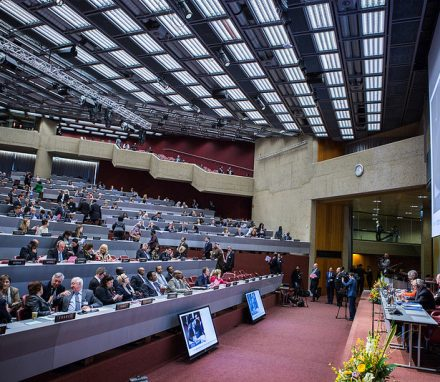 The declaration on Ukraine was adopted at the IPU's 132nd Assembly in Hanoi's