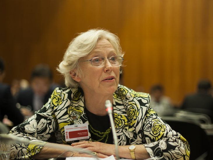 Baroness Hooper CMG was one of three UK parliamentarians who attended the meeting