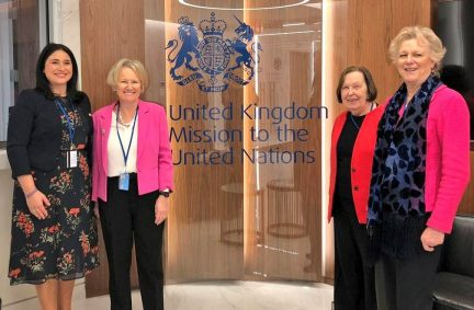 UK Parliamentary delegates to CSW63 meeting with the Minister of Women of Gibraltar at the UK Mission to the UN in New York