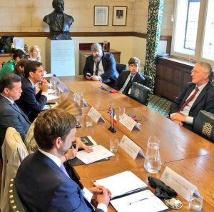 Italian delegation meet with the Chair of the Exiting the European Union Commitee, Rt Hon Hillary Benn MP