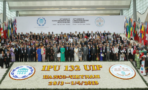 The 12 Plus Declaration on Ukraine was adfopted at the 132nd IPU Assembly in Hanoi
