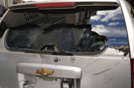 Damage to vehicle transporting Legislators to the National Assembly