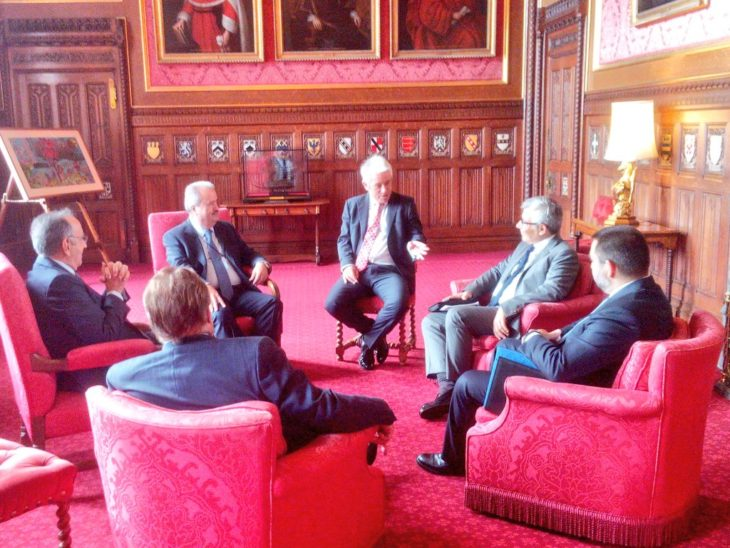 Delegation from the Parliament of lebanon enjoy a meeting with Speaker of the House of Commons, Rt Hon John Bercow MP