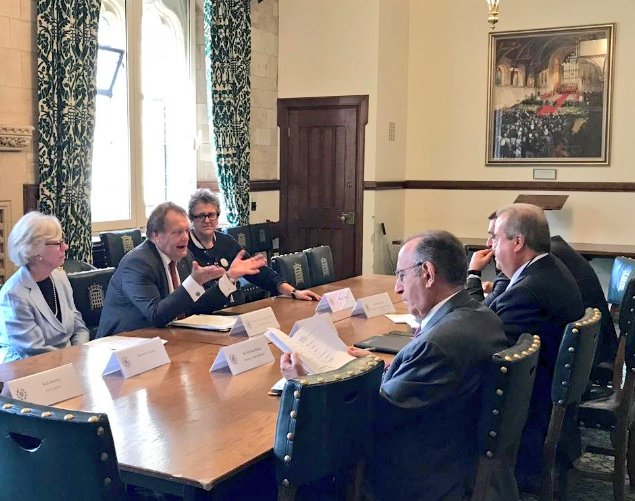 Roundtable discussions with the visiting delegation from Lebanon chaired the Chair of the Lebanon APPG, Rt Hon John Hayes MP