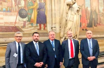 The visiting delegation from Lebanon and their Ambassador to the UK on a tour of the Palace of Westminster with Fabian Hamilton MP
