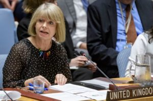 Harriett Baldwin MP speaks in the UN Security Council in New York in her past capacity as FCO/DFID Minister for Africa