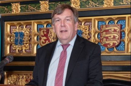 The AGM had a vote of thanks for the outgoing Chair, Rt Hon John Whittingdale OBE MP, here speaking at an IPU 130th anniversary event in Speaker's House