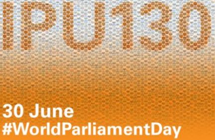 """The 130th anniversary of the IPU was celebrated under the slogan of """"130 years of empowering parliamentarians"""""""