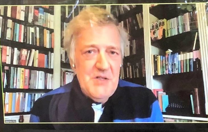 Stephen Fry provided introductory remarks on the plight of LGBTI people worldwide in the face of violence and discrimination