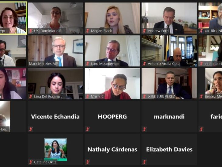 UK MPs/Peers had detailed discussions by Zoom with their counterparts in Colombia