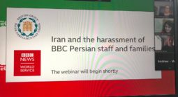 BGIPU co-hosted with the BBC World Service a virtual discussion on the continuing harassment of BBC Persian staff and families by Iran on 5 October 2020