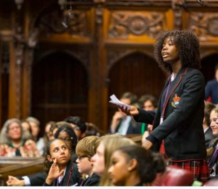 Young people debate some of the key barriers facing young women and girls. © UK House of Lords / Roger Harris