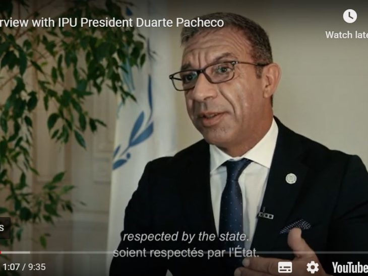 In his first video interview for the IPU, the new President sets out his vision and his priorities for the three years of his mandate.