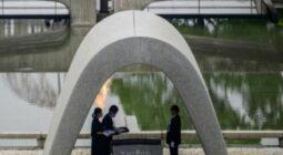 Peace Memorial Park in Hiroshima, Japan, PHILIP FONG / AFP