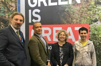 Alex Sobel MP with UK parliamentary colleagues Chris Law MP, Clive Lewis MP and Baroness Northover represented BGIPU at COP23 in Bonn