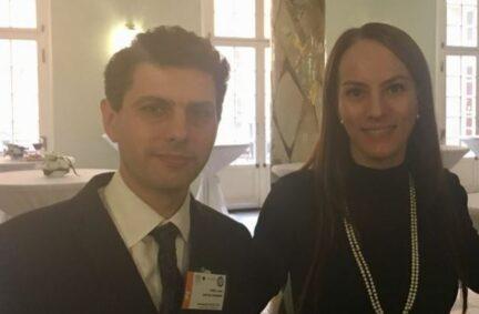 Alex Sobel MP meeting then IPU President Gabriella Cuevas at COP23 in Bonn