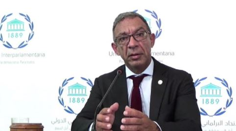 IPU President Duarte Pacheco chaired the meeting of over 1000 parliamentarians and experts from 135 countries connected this week to the concluding sessions of the 142nd IPU Assembly, held online for the first time.