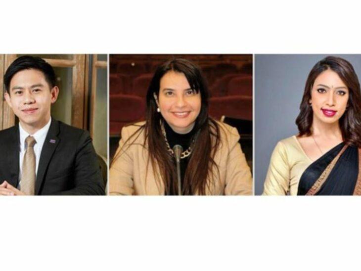 © MP Dr Issara Sereewatthanawut of Thailand, MP Sahar Albazar of Egypt, and MP Ms Teenah Jutton of Mauritius