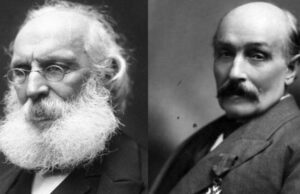 Frédéric Passy, French MP. and William Randal Cremer, British MP.