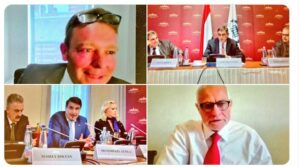 The meeting was hosted by Chair of the Hungarian All Party Parliamentary Group Craig Mackinlay MP, and Dr Richárd Hörcsik Chair of the Hungarian/British Friendship group.